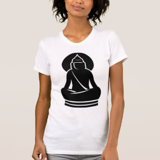 BUDDHA IN ALL BLACK WHITE T SHIRT