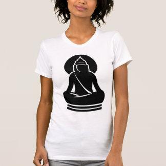 BUDDHA IN ALL BLACK WHITE T SHIRT