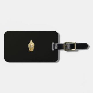 buddha in black luggage tag