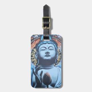Buddha in Blue Travel Bag Tags
