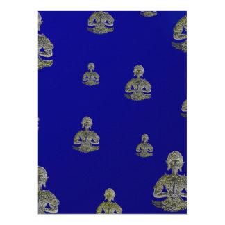 buddha in clouds in digital card