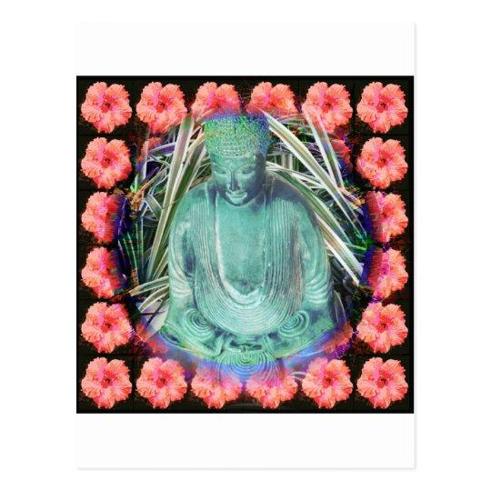 Buddha in Garden Postcard