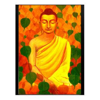 Buddha in Green Leaves-PCSN2015A.jpg Postcard