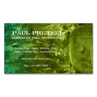 Buddha in Green & Turquoise Business Card Magnet