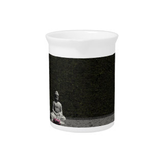 Buddha in grey room - 3D render Drink Pitcher