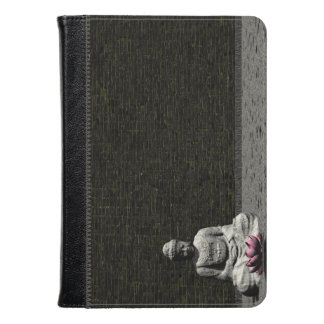 Buddha in grey room - 3D render Kindle Case