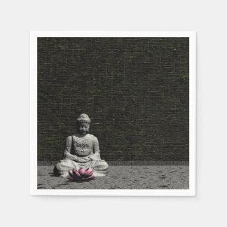 Buddha in grey room - 3D render Napkin