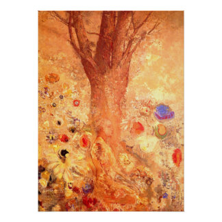Buddha in His Youth by Redon - Poster Print