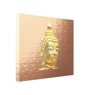 buddha in marsala canvas print