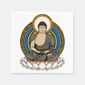 Buddha in Meditation Dhyana Mudra Paper Napkin