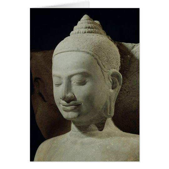 Buddha in Meditation on the Naga King, Card
