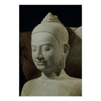 Buddha in Meditation on the Naga King, Poster