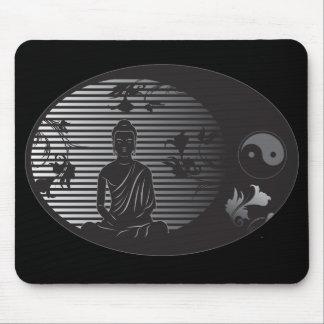 Buddha in Oval Mousepad