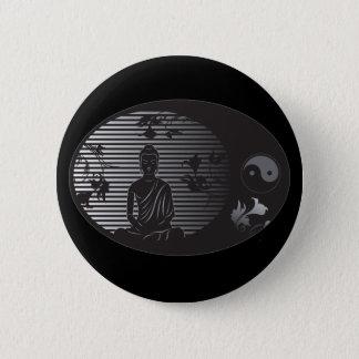 Buddha in Oval Pinback Button