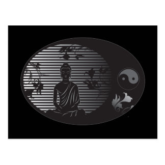Buddha in Oval Postcards