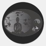 Buddha in Oval Sticker