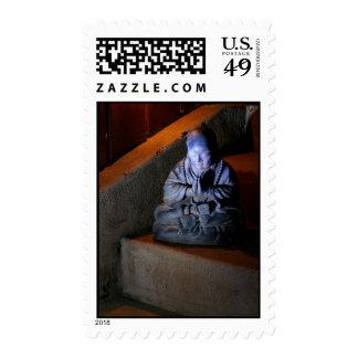 Buddha in Prayer postage stamp