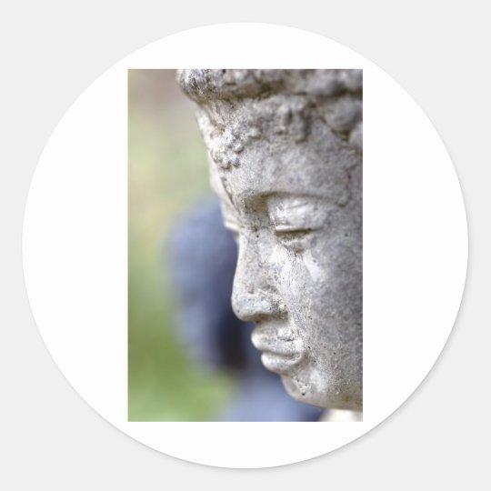 Buddha in Profile Classic Round Sticker