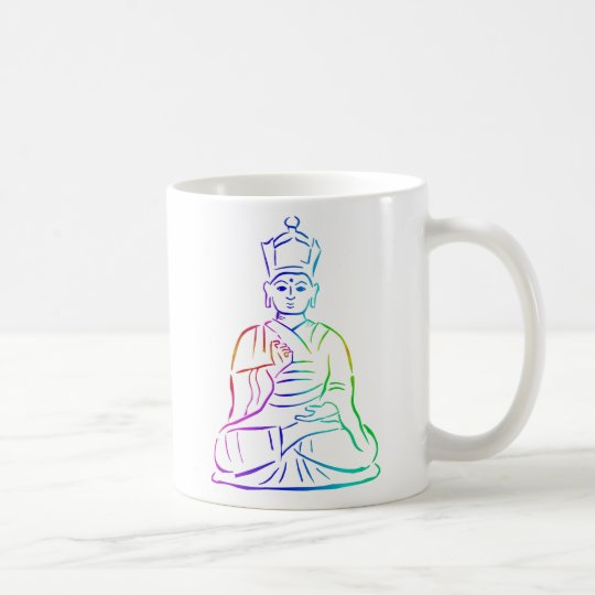 Buddha in rainbow colors coffee mug