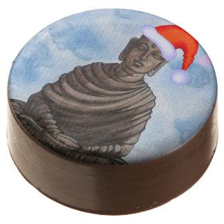 Buddha in Santa Hat Chocolate Dipped Oreo