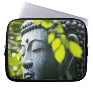 Buddha in Senso-ji Temple Garden Computer Sleeve
