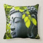 Buddha in Senso-ji Temple Garden Pillows