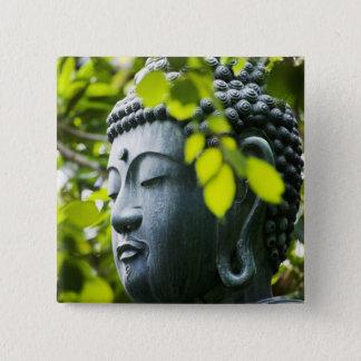 Buddha in Senso-ji Temple Garden Pinback Button