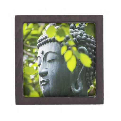 Buddha in Senso-ji Temple Garden Premium Jewelry Box