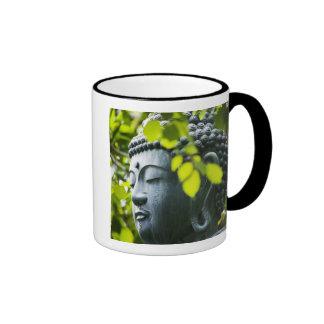 Buddha in Senso-ji Temple Garden Ringer Mug