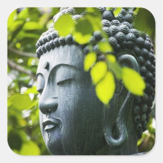Buddha in Senso-ji Temple Garden Square Sticker