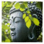 Buddha in Senso-ji Temple Garden Tile