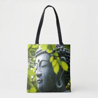Buddha in Senso-ji Temple Garden Tote Bag