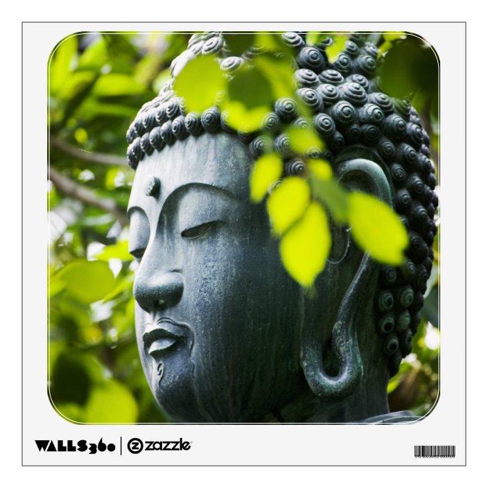 Buddha In Senso Ji Temple Garden Wall Sticker Zazzle Com