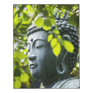 Buddha in Senso-ji Temple Garden Wood Wall Art