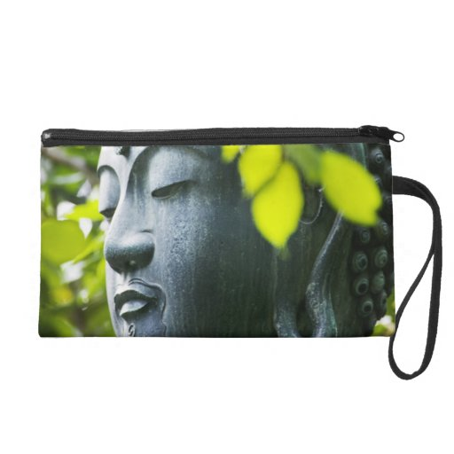 Buddha in Senso-ji Temple Garden Wristlet Clutch