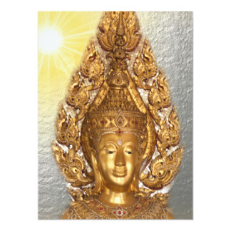 buddha in silver card