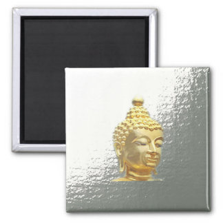 buddha in silver magnet