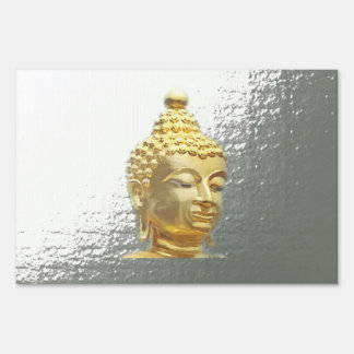 buddha in silver sign