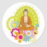 Buddha in Spring Flowers Sticker