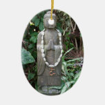 Buddha in the Garden Christmas Tree Ornaments