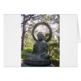 Buddha in the Japanese Tea Garden Card