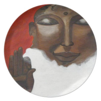 Buddha in the skies party plate