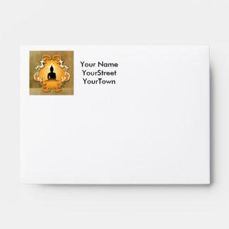 Buddha in the sunset envelopes