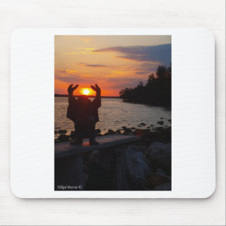 Buddha In the Sunset Mouse Pad