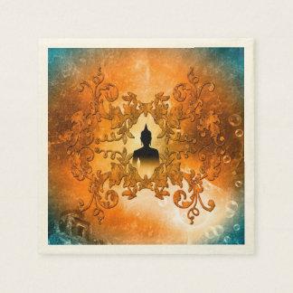 Buddha in the sunset napkin