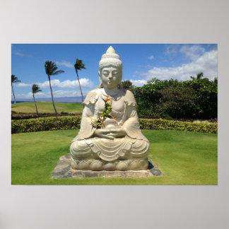 Buddha in Waikoloa, Hawaii (Landscape Version) Poster