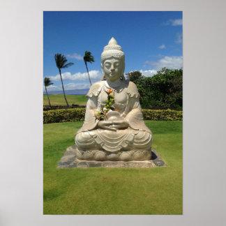 Buddha in Waikoloa, Hawaii Poster