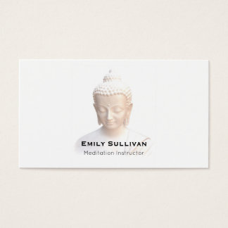 Buddha In White | Serene Meditative And Calm Business Card
