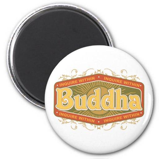 Buddha Inquire Within 2 Inch Round Magnet