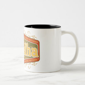 Buddha Inquire Within Two-Tone Coffee Mug